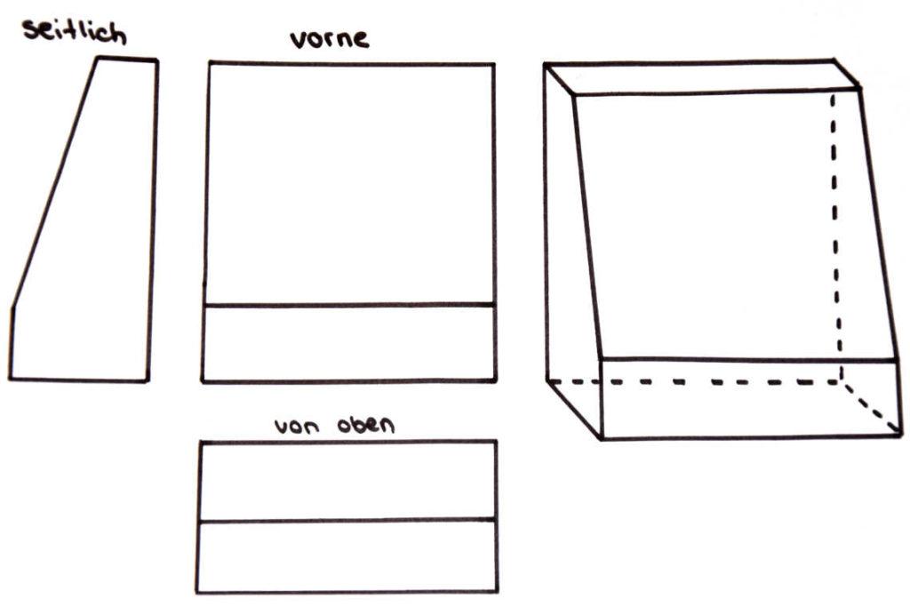 DIY Kinogutschein Vorlage Karton zuschneiden