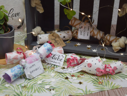 DIY Knallbonbon mit Konfetti und Glücksspruch