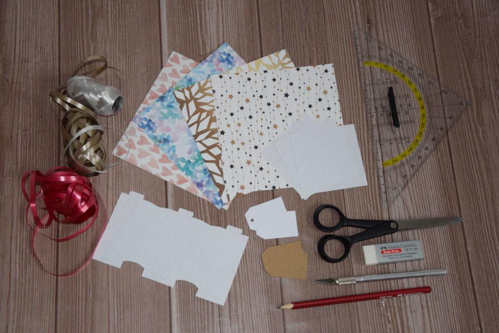 DIY Knallbonbon mit Konfetti und Glücksspruch Material