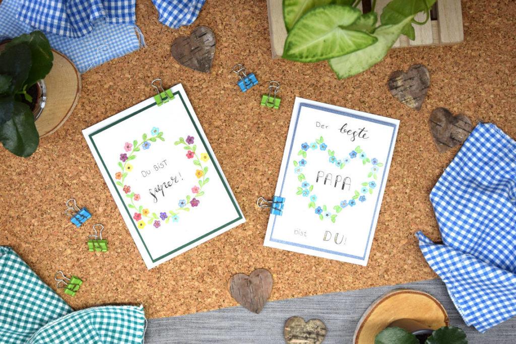 Handlettering Inspiration Handlettering zum Vatertag