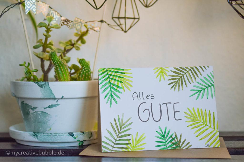 Kreative Geschenke für Oma und Opa Geburtstagskarte