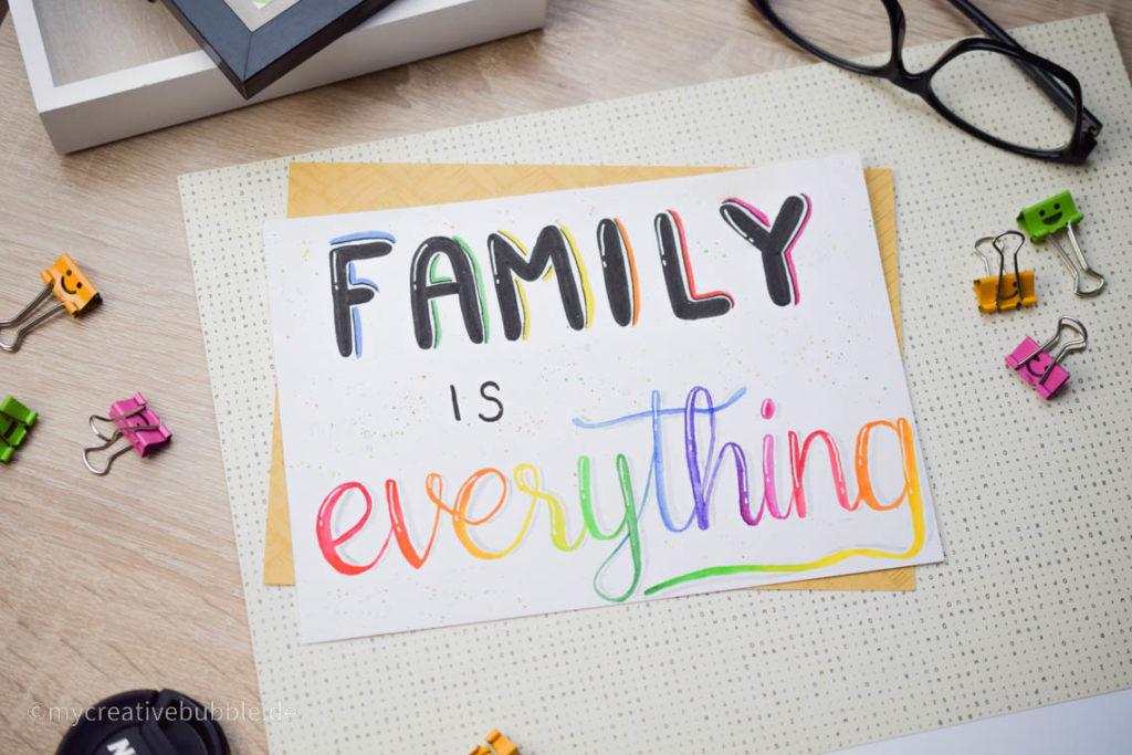 Kreative Geschenke für Oma und Opa Handlettering