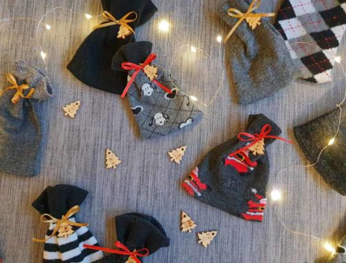 DIY Upcycling Adventskalender aus kaputten Socken