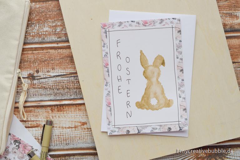 DIY Osterkarte mit süßem Hasenmotiv