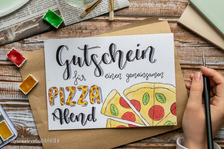 persönliche Gutschein Ideen, Pizza Abend